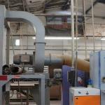 Instalação de exaustor industrial